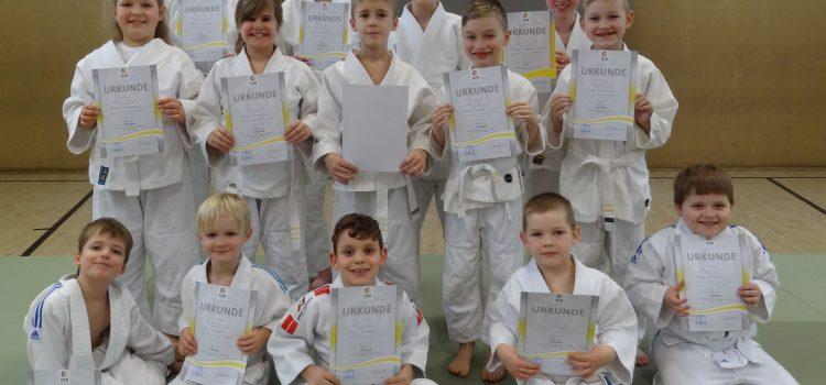 Judo: Erste Gurtprüfung im Jahr, Neulinge sind wettkampfbereit